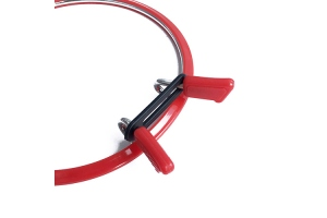 Самозап'ялюючі (пружинні) п'яльця NURGE, 126 мм, червоні