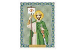 """Схема для вышивки иконы бисером """"Св. Равноап. Царь Константин"""""""