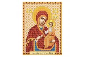 """Схема для вышивки иконы бисером """"Богородица Иверская"""""""
