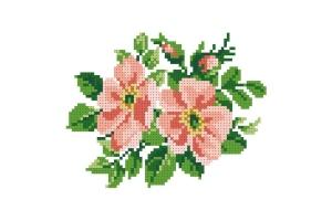 """Водорастворимый флизелин со схемой """"Цветы яблони"""", пришивной"""