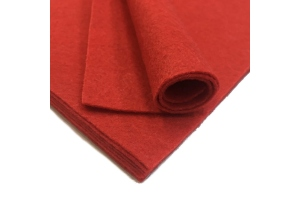 Фетр жесткий, красный, 1 мм, 20*30 см
