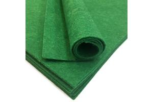 Фетр жесткий, зеленый, 1 мм, 20*30 см