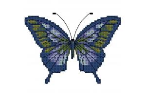 """Водорастворимый флизелин со схемой """"Бабочка"""", пришивной"""