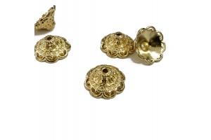 Шапочка (обниматель) для бусин, золото, 16 мм