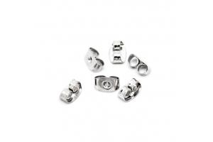Фиксаторы для сережек-гвоздиков, серебро