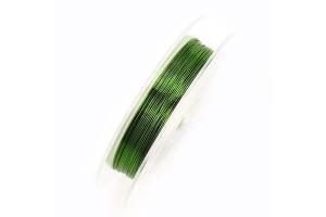 Стальной тросик, 0.45 мм, зеленый