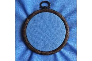 Канва равномерная, домотканое полотно Оникс № 30 (для микровышивки) Коломия, 10*10 см, 32 каунт, голубая
