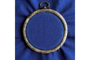 Канва равномерная, домотканое полотно № 30 Коломия, 50*50 см, 29 каунт, темно-синий