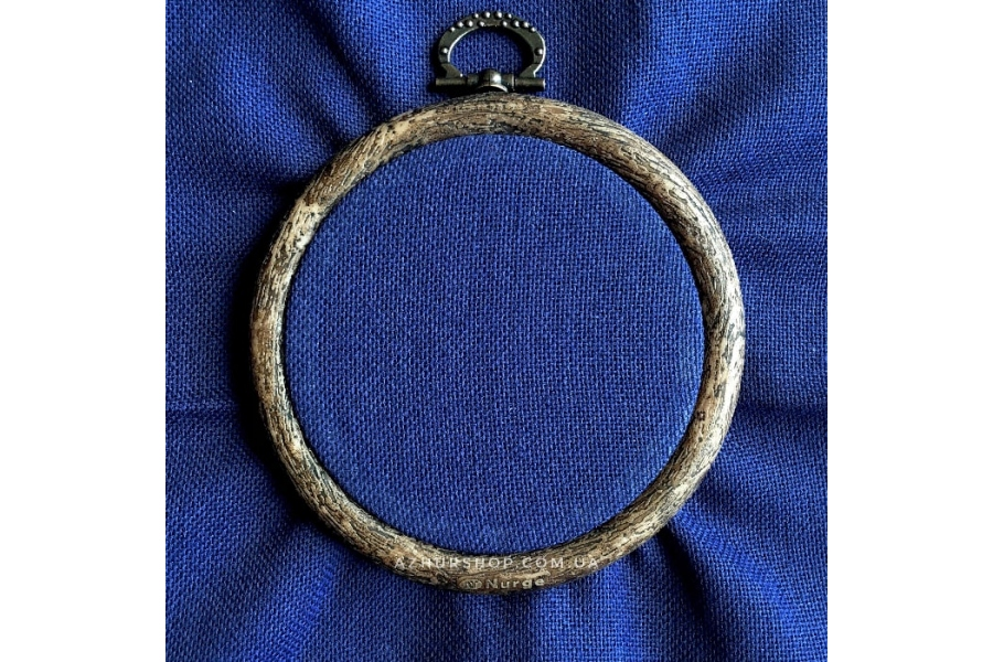 Канва равномерная, домотканое полотно № 30 Коломия, 25*25 см, 29 каунт, темно-синий (для микровышивки)