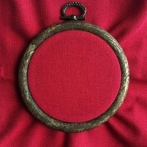 Канва рівномірна, домоткане полотно № 30 Коломия, 10*10 см, 30 каунт, темно-червона (для мікровишивкі)
