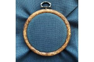 Канва рівномірна (для мікровишивки) Edinburgt-Aida Zweigart 10*10 см, 36 каунт, мокрий асфальт (3217/7026)