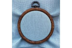 Канва рівномірна (для мікровишивки) Edinburgt-Aida Zweigart 10*10 см, 36 каунт, блакитна димка (3217/7094)