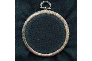 Канва рівномірна (домоткане полотно, для мікроввшивки) 20*45 см, 38 каунт, чорна (ФА090дЧ4075)