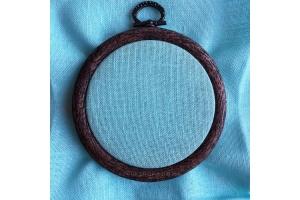 Канва равномерная (для микровышивки) Edinburgt-Aida Zweigart 10*10 см 36 каунт, лазурь (3217/5146)