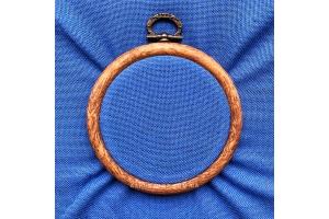 Канва равномерная (сорочечная, для микровышивки) 10*10 см, 30 каунт, синий