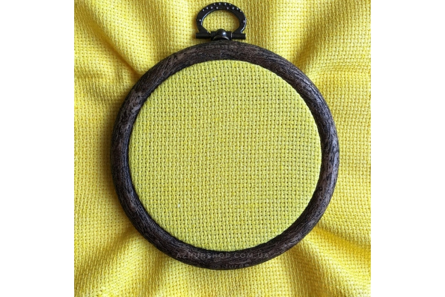 Канва Aida 16 каунт, 50*50 см, желтая