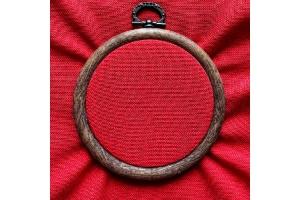 Канва равномерная (сорочечная, для микровышивки) 10*10 см, 38 каунт, красная