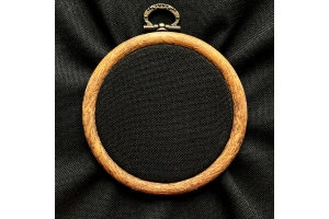 Канва равномерная (сорочечная, для микровышивки) 10*10 см, 40 каунт, черная