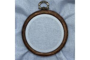 Канва рівномірна, домоткане полотно № 30 (для мікровишивки) Коломия, 10*10 см,  каунт, сірий