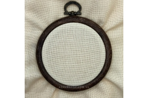 Канва рівномірна, домоткане полотно № 30 (для мікровишивки) Коломия, 10*10 см,  каунт, бежевий