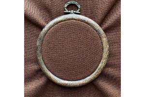 Канва рівномірна, домоткане полотно № 30 Коломия, 10*10 см, 32 каунт, коричневий (для мікровишивки)