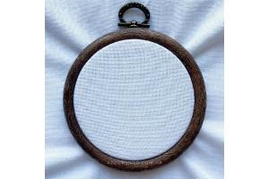 Канва рівномірна, домоткане полотно № 30 Коломия, 50*50 см, 34 каунт, молочна (для мікровишивки)