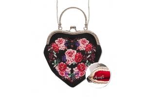 """Набор для вышивания сумки с фермуаром от винтажном стиле """"Розы"""""""