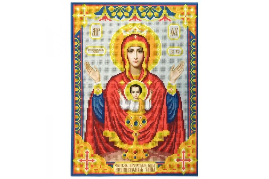 """Схема для вышивки иконы бисером образа Пресвятой Богородицы """"Неупиваемая Чаша"""""""