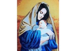 """Схема для вышивки бисером """"Иисус и Мария"""""""