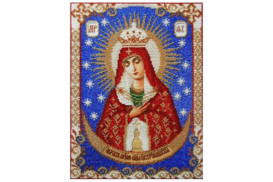 """Схема для вышивки иконы бисером """"Пресвятая Богородица Остробрамская"""""""
