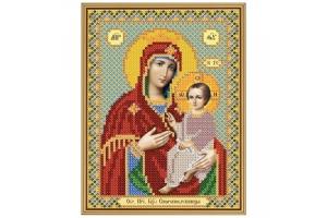 """Схема для вышивки иконы бисером образа Божьей Матери """"Скоропослушница"""""""
