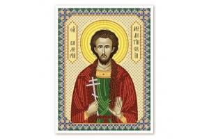 """Схема для вышивки иконы бисером """"Св. Валерий"""""""