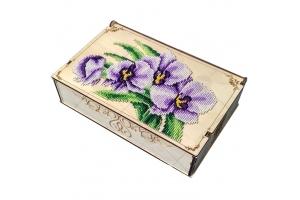 """Деревянная шкатулка-органайзер """"Орхидеи"""""""